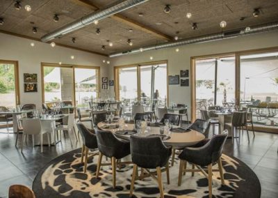 Restaurant repas entreprise lac Broye vue lac